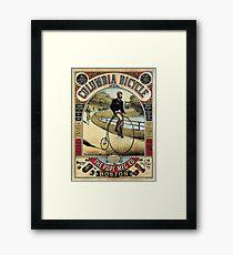Vintage Columbia Bicycles Advertisement Framed Print