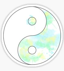 Paint Splash Ying Yang Sticker