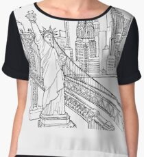 New York City Skyline  Chiffon Top