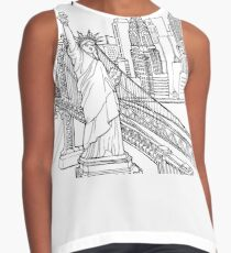 New York City Skyline  Contrast Tank