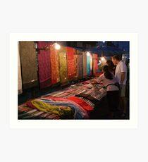 Night Market - Pashmina Art Print