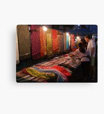 Night Market - Pashmina Canvas Print