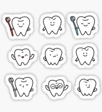 Funny teeth Sticker