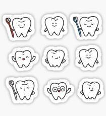 Funny teeth Sticker