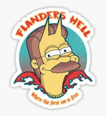 Flanders Hell Sticker