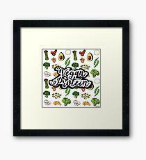 Vegan Protein  Framed Print