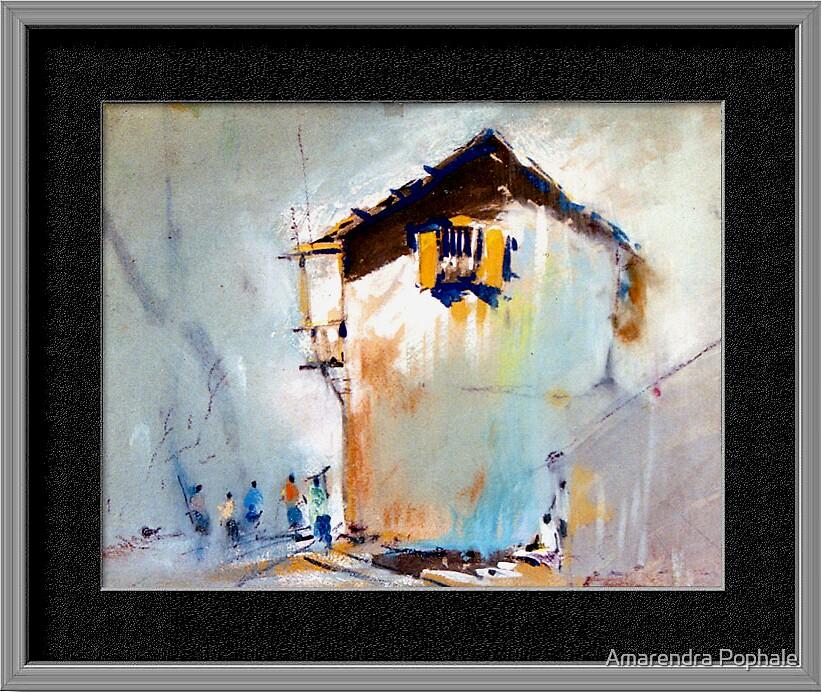 Watercolor Landscape by Amarendra Pophale