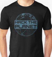Hack the Planet - Blue Design for Computer Hackers T-Shirt