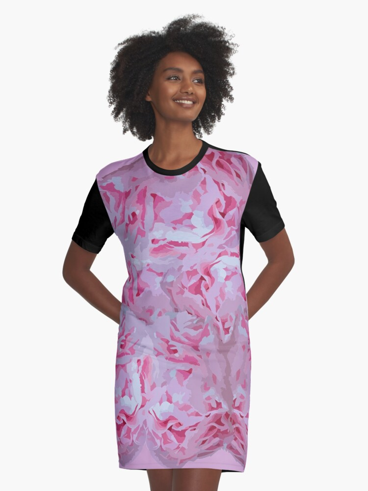 Roses Graphic T-Shirt Dress Front