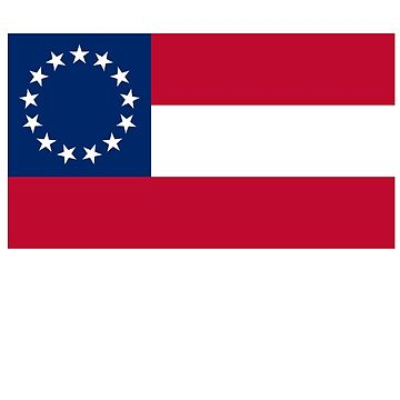 Stars & Bars, USA, America, First American National Flag, 13 stars, 1861 by TOMSREDBUBBLE