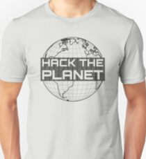 Hack the Planet - Dark Gray Design for Computer Hackers Unisex T-Shirt