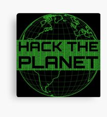 Hack the Planet - Green Design for Computer Hackers Canvas Print