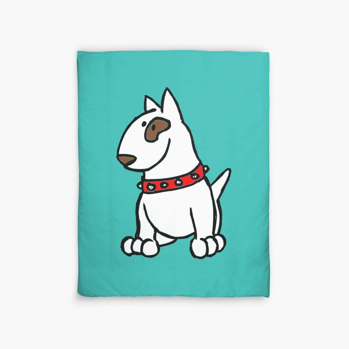 Quot Just Bully English Bull Terrier Cartoon Dog Quot Duvet Covers