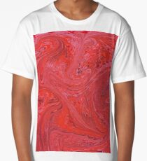 Marbled paper reds Long T-Shirt