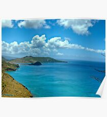 Caribbean View Poster