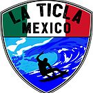 SURFING LA TICLA MEXICO SURF SURFER SURFBOARD BOOGIE BOARD MX 2 by MyHandmadeSigns