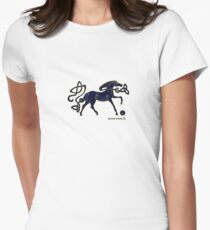 Indigo Horse of Alba Women's Fitted T-Shirt
