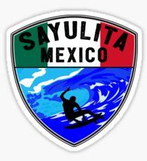 SURFING SAYULITA MEXICO SURF SURFER SURFBOARD BOOGIE BOARD MX 2 Sticker