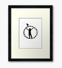 Canon Of Freedom. T-Shirt Design Framed Print