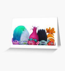 Trolls from Dreamwork's Trolls - White Greeting Card