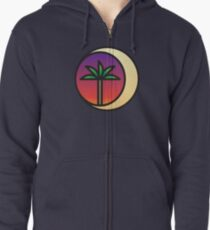 Crescent Palm Zipped Hoodie