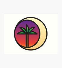 Crescent Palm Art Print