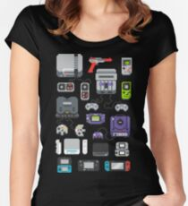 Super Pixel of my Childhood Women's Fitted Scoop T-Shirt