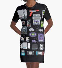 Super Pixel of my Childhood Graphic T-Shirt Dress
