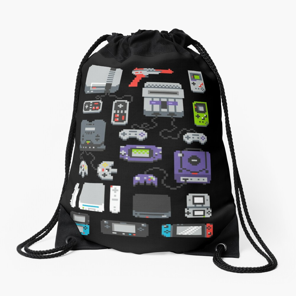 Super Pixel of my Childhood Drawstring Bag