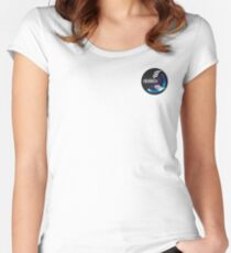 EOE Angels Logo Women's Fitted Scoop T-Shirt