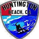 Surfing HUNTINGTON BEACH CALIFORNIA Surf Surfer Surfboard Waves Ocean 8 by MyHandmadeSigns