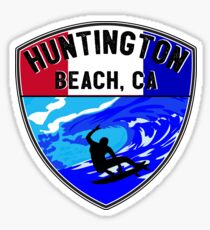 Surfing HUNTINGTON BEACH CALIFORNIA Surf Surfer Surfboard Waves Ocean 8 Sticker