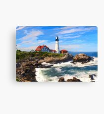 Maine, Portland Maine Headlight Lighthouse Canvas Print