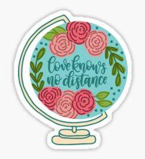 Love Knows No Distance Globe Sticker