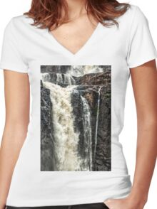 Iguazu Falls - in close Women's Fitted V-Neck T-Shirt
