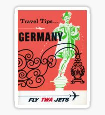Vintage Germany Airline Travel Sticker