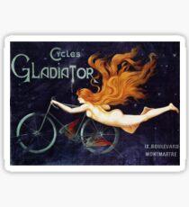 Vintage Gladiator Bicycles Advertisement Sticker