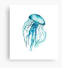 Watercolor Jellyfish Metal Print