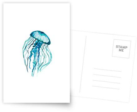 Watercolor Jellyfish by Ilze Lucero