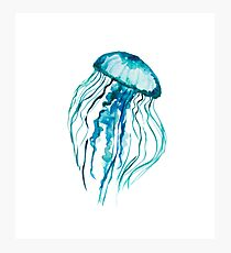 Watercolor Jellyfish Photographic Print