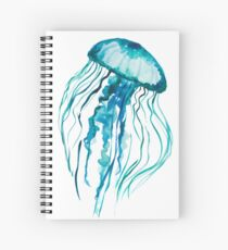 Watercolor Jellyfish Spiral Notebook