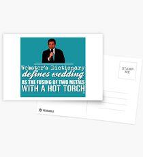 Das Büro - Michael Scott - Webster's Wörterbuch Hochzeit Zitat Postkarten