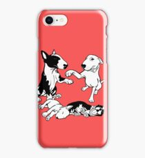 English Bull Terrier Family  iPhone Case/Skin