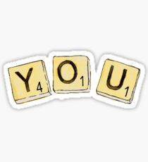 dodie you ep scrabble squares Sticker