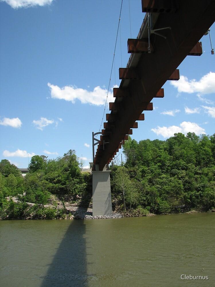 Pedestrian Bridge Over the Cumberland River by Cleburnus