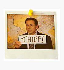 The Office - Michael Scott Funny Thief Photo - Graphic Design Photographic Print