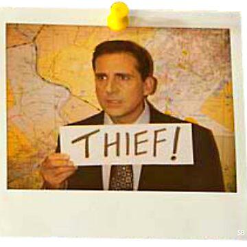 The Office - Michael Scott Funny Thief Photo - Graphic Design by sbaldesco