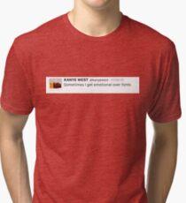 Sometimes I get emotional over fonts KW tweet Tri-blend T-Shirt