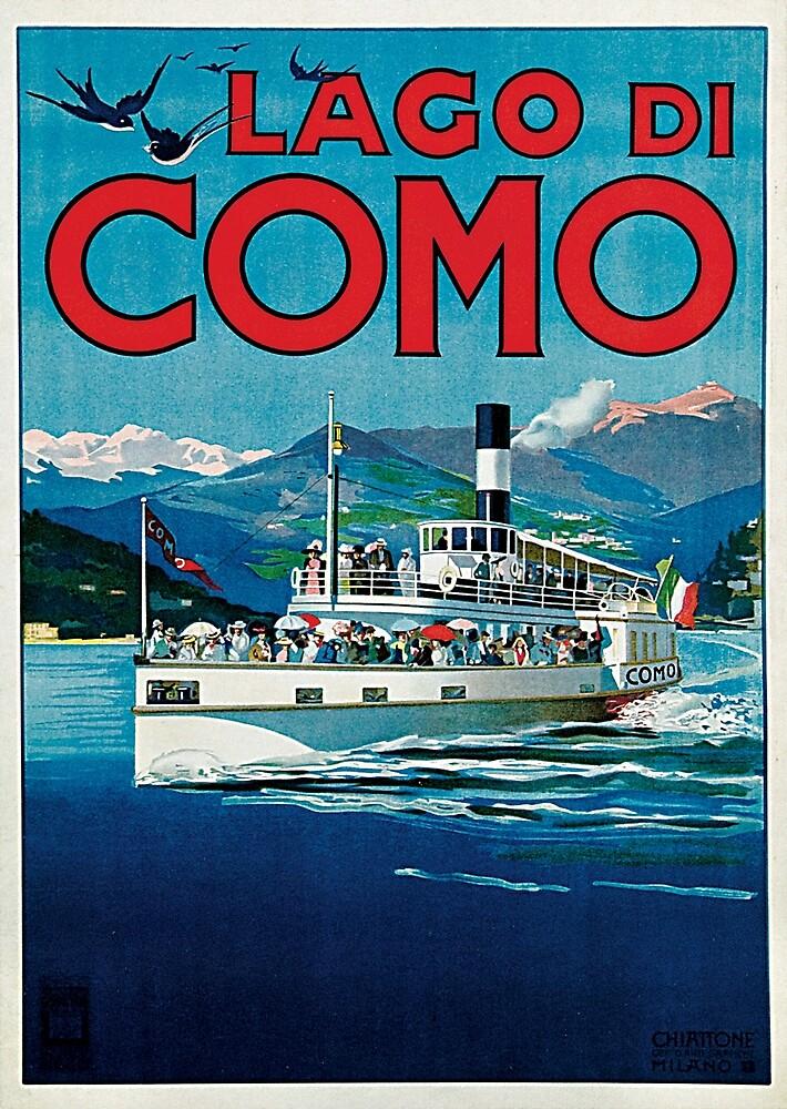 Vintage Lago di Como Travel by pdgraphics