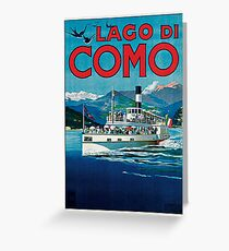 Vintage Lago di Como Travel Greeting Card